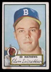 EDDIE MATHEWS 1952 TOPPS BASEBALL CARD