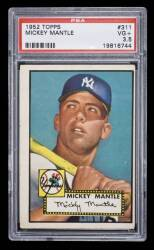 MICKEY MANTLE 1952 TOPPS BASEBALL ROOKIE CARD