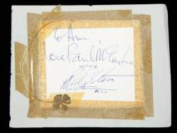 PAUL McCARTNEY AND RINGO STARR SIGNED CUT SHEET