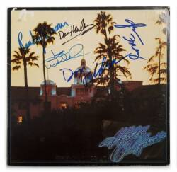 THE EAGLES SIGNED HOTEL CALIFORNIA ALBUM SLEEVE