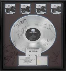 "AEROSMITH SIGNED ""MULTI-PLATINUM"" RECORD AWARD"