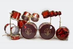 NEIL PEART 1982-1986 ALBUM AND TOUR PLAYED DRUM KIT
