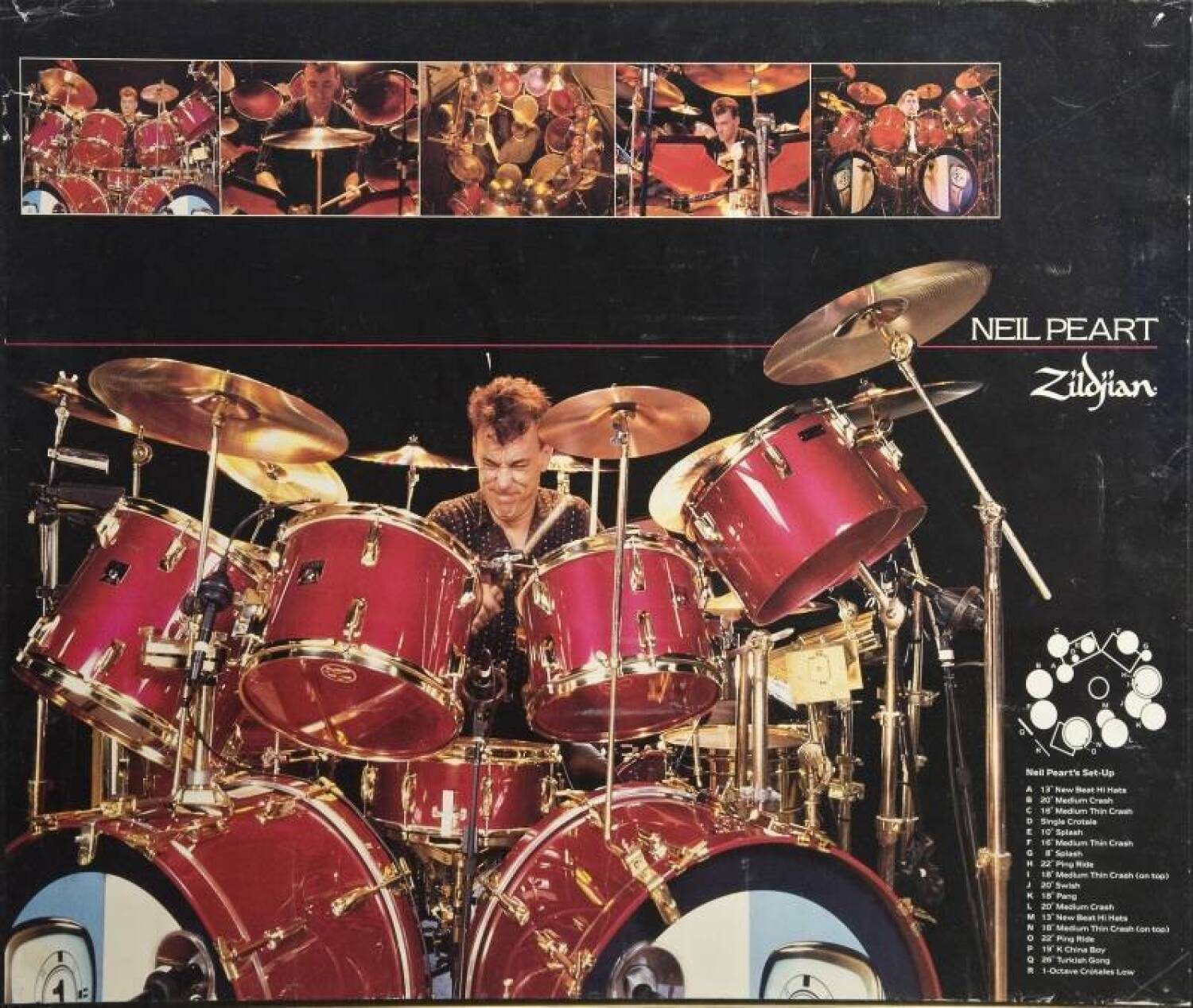Neil Peart 1982 1986 Album And Tour Played Drum Kit Current Price