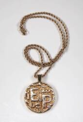"ELVIS PRESLEY ""E.P."" NECKLACE"