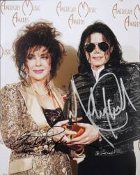 MICHAEL JACKSON AND ELIZABETH TAYLOR SIGNED PHOTOGRAPH