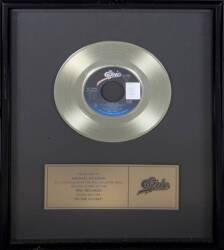 MICHAEL JACKSON IN-HOUSE RECORD AWARD