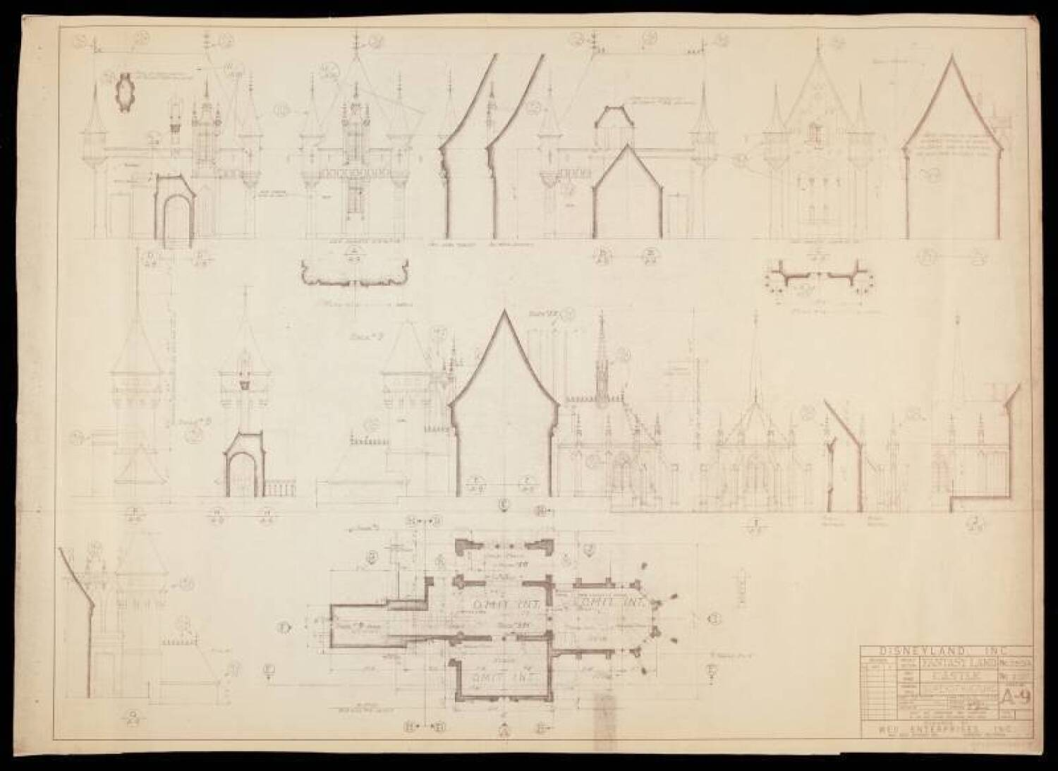 DISNEYLAND SLEEPING BEAUTY CASTLE BLUEPRINT ...