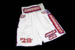 EVANDER HOLYFIELD VS. CHRIS BYRD FIGHT WORN TRUNKS