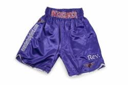 EVANDER HOLYFIELD VS. JOHN RUIZ III FIGHT WORN TRUNKS