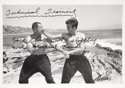 BRUCE LEE SIGNED TECHNICAL TRAINING PHOTOGRAPH