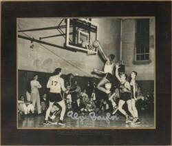ELGIN BAYLOR SIGNED COLLEGE OF IDAHO PLAQUED IMAGE