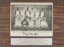 ELGIN BAYLOR SIGNED COLLEGE OF IDAHO TEAM PLAQUE
