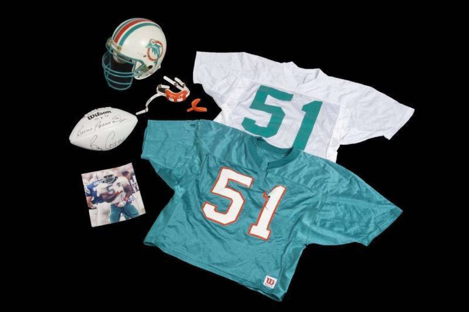 the best attitude 5fae2 a2f1f BRYAN COX MIAMI DOLPHINS GAME WORN HELMET AND PRACTICE ...