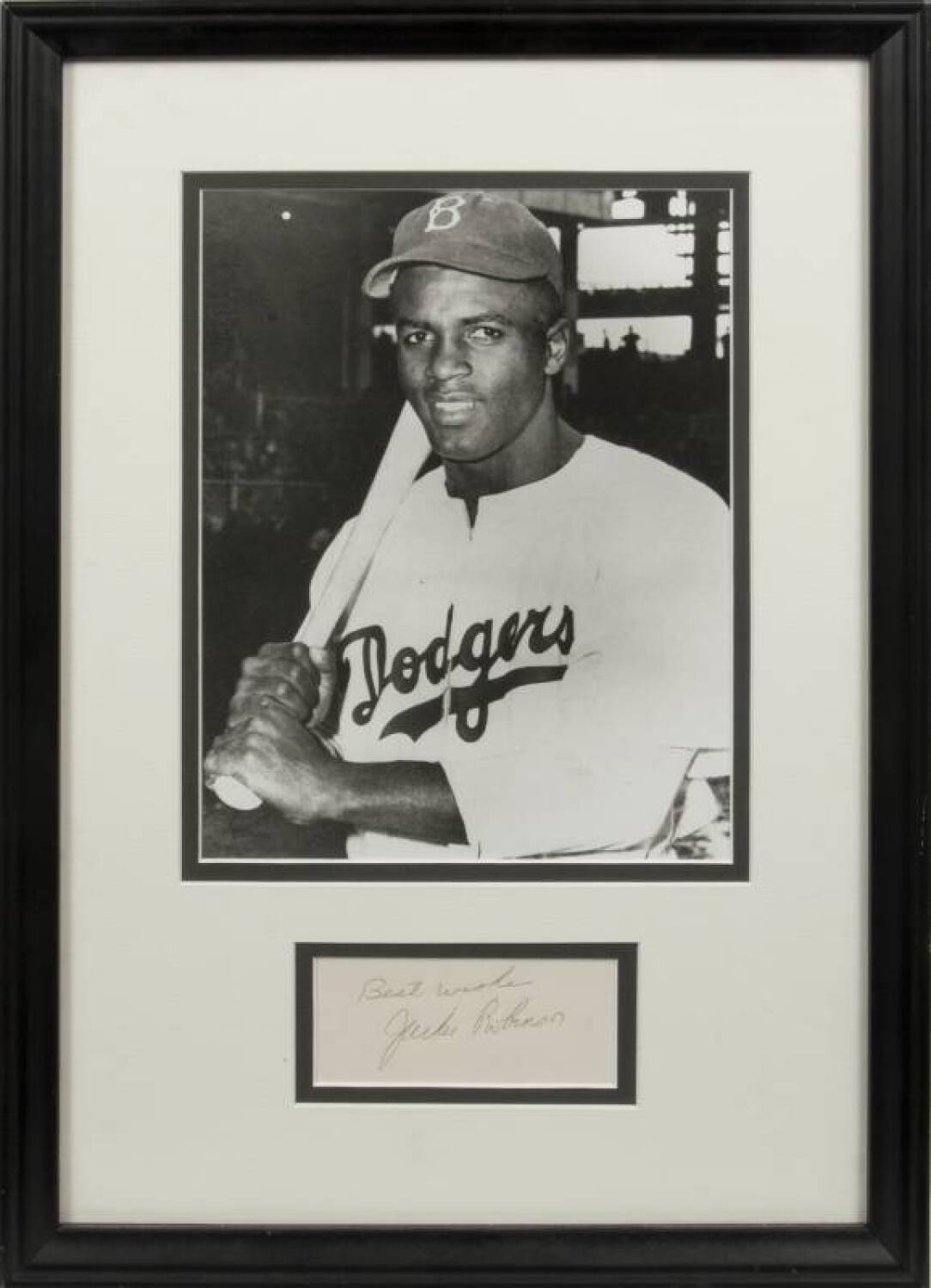 Jackie Robinson Signed Index Card Current Price 440