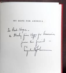 TWO PRESIDENTIAL BOOKS INSCRIBED TO BOB HOPE