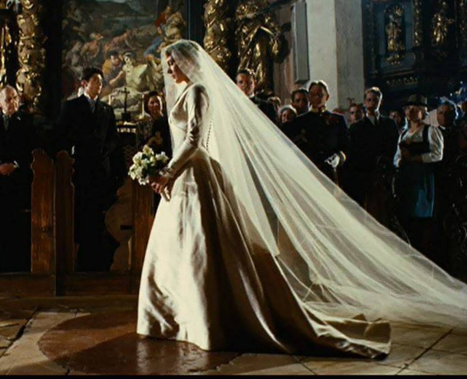 JULIE ANDREWS THE SOUND OF MUSIC WEDDING GOWN Current Price 18000
