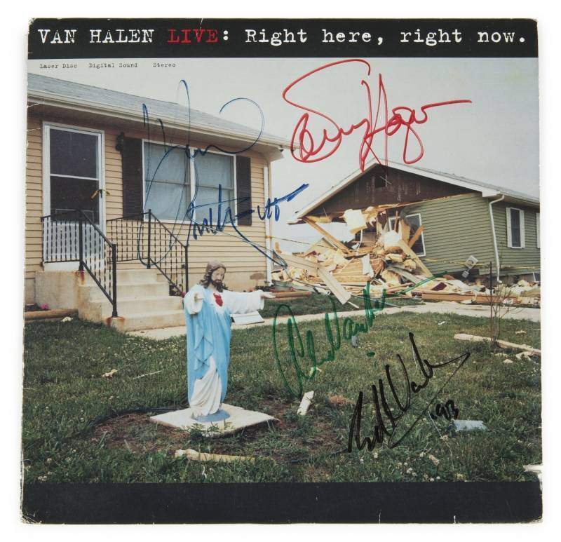 Van Halen Signed Album Live Right Here Right Now The streets are packed during rush hour so i'd get rid of all the cars if i could. van halen signed album live right