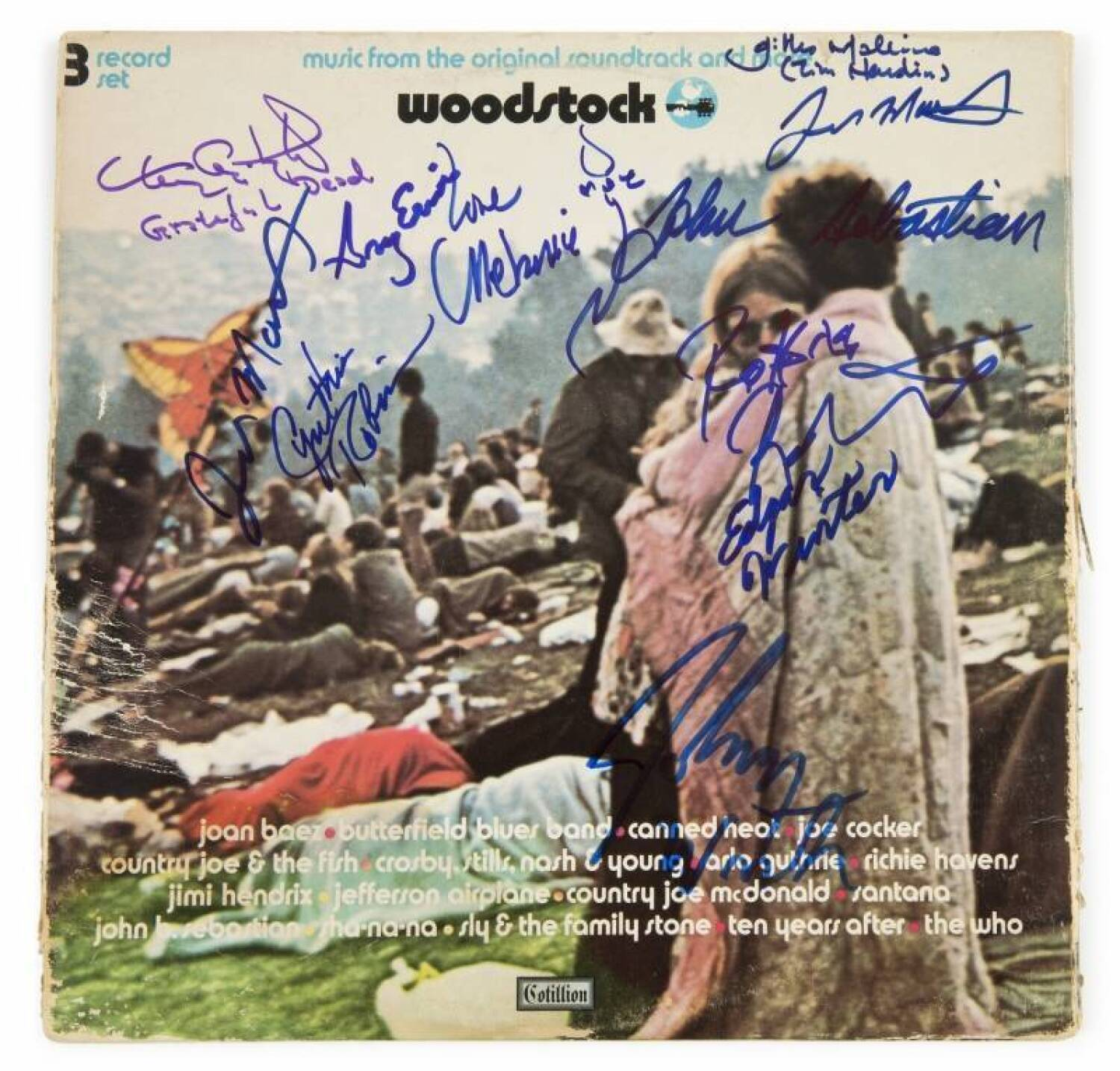 WOODSTOCK PERFORMERS SIGNED ALBUM COVER - Current price: $200