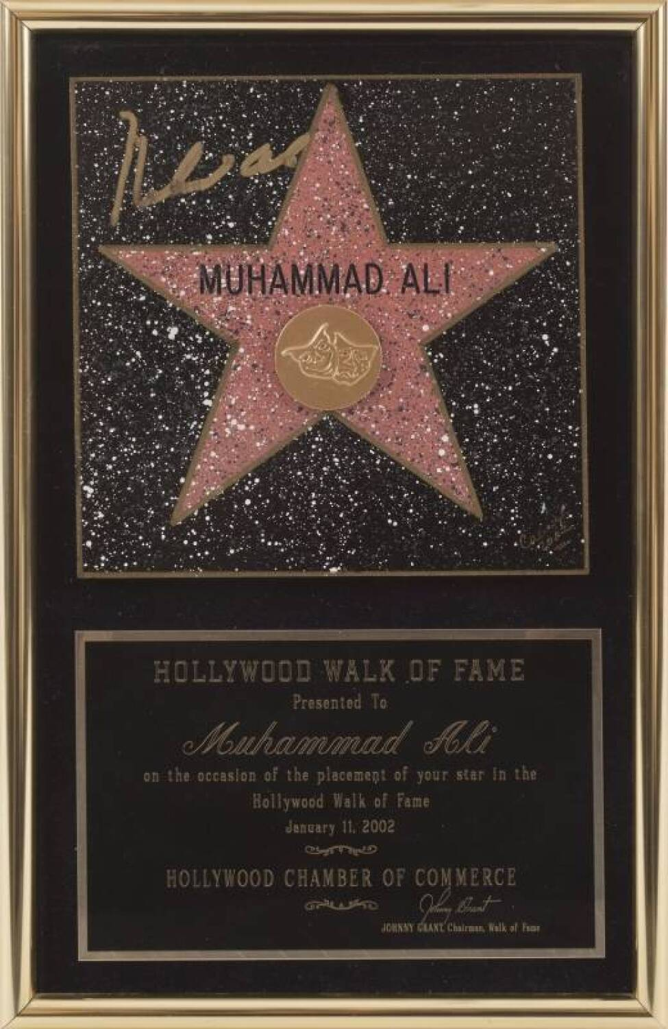 MUHAMMAD ALI SIGNED HOLLYWOOD WALK OF FAME STAR - Current price   3000 70573f549