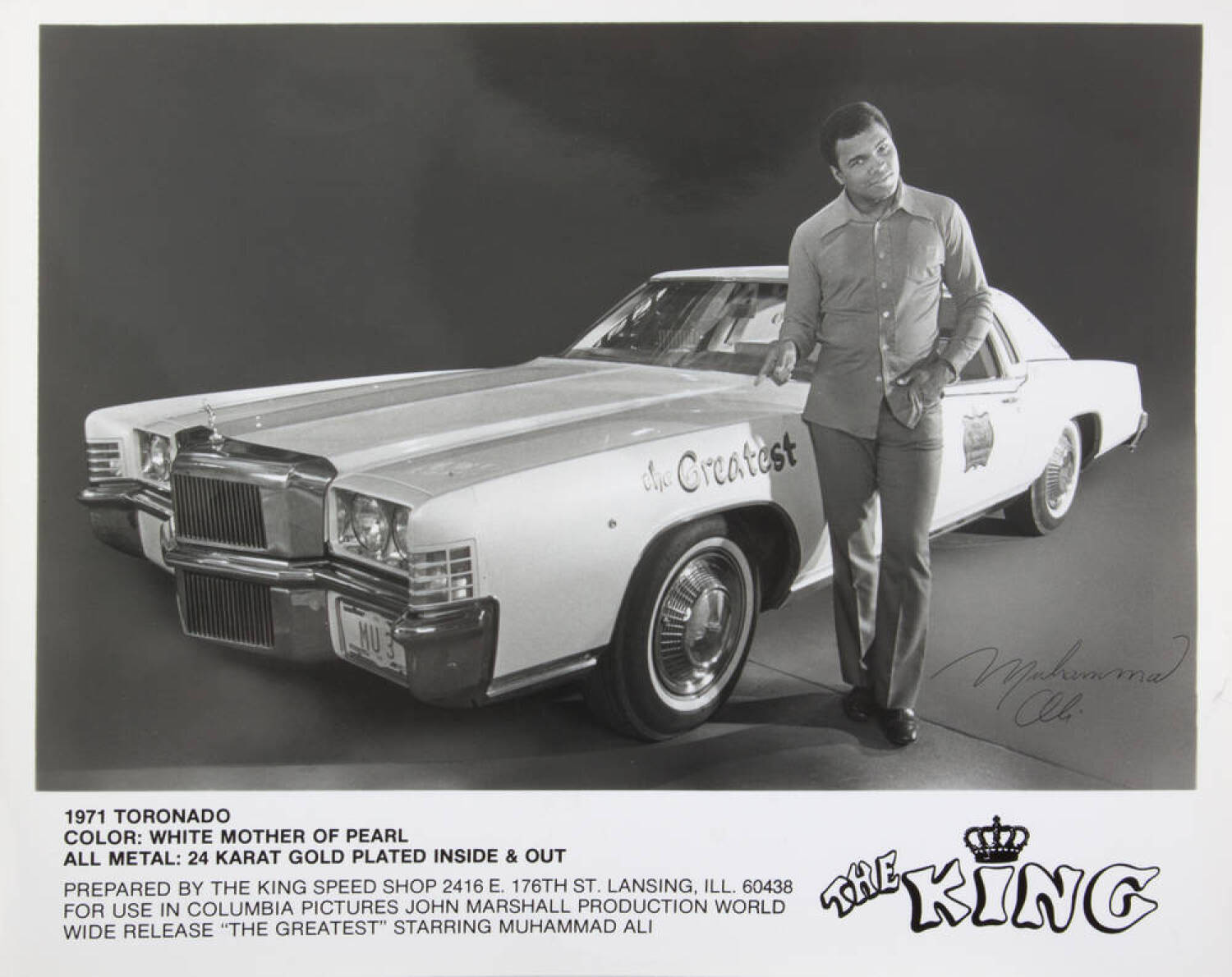 Muhammad Ali Materials From The Greatest Screen Used 1971 Oldsmobile