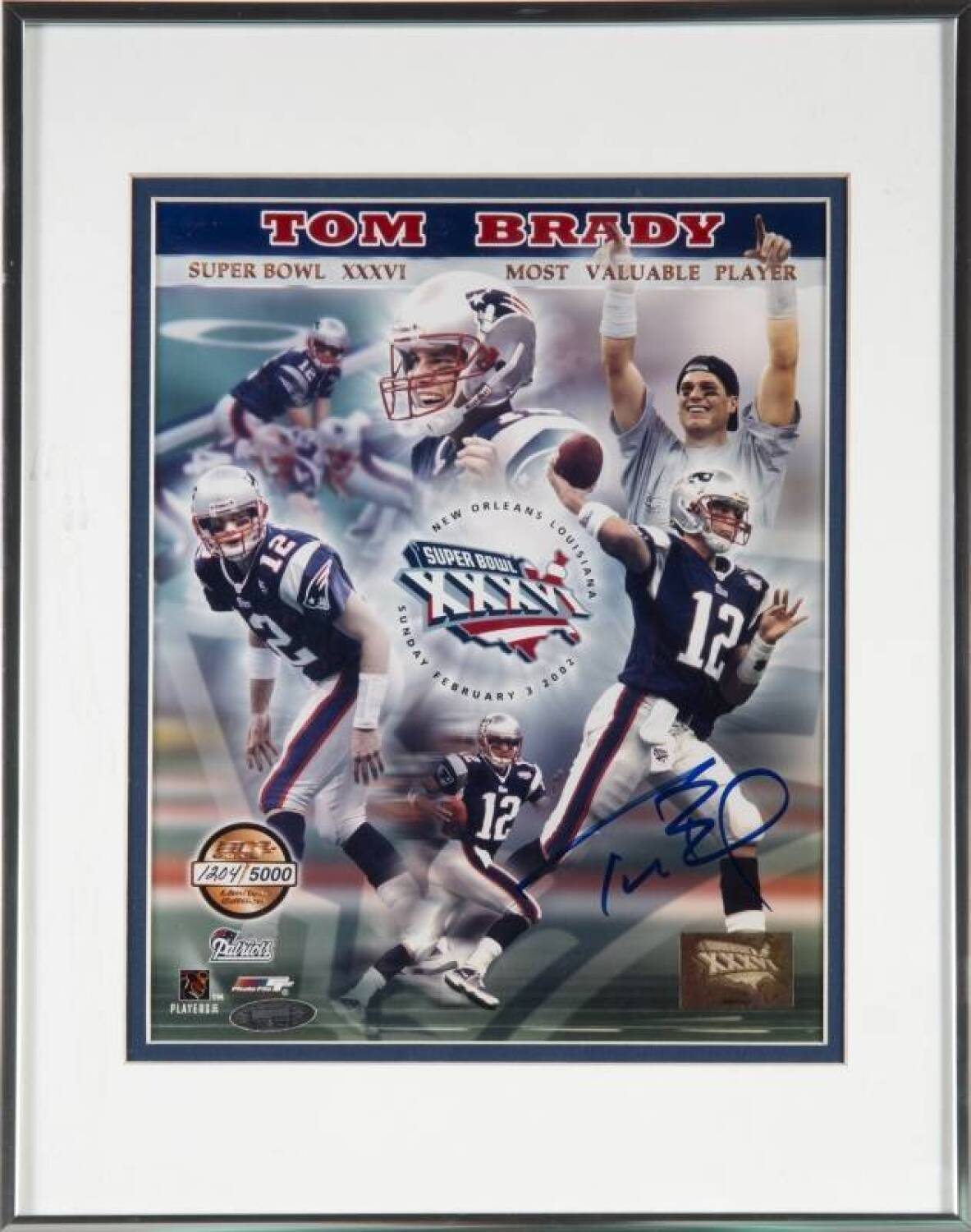Lot 1038 of 174  TOM BRADY SIGNED SUPER BOWL XXXVI MVP LIMITED EDITION  PHOTOGRAPH 3f9d38a0b