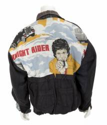DAVID HASSELHOFF KNIGHT RIDER JACKET AND POSTERS