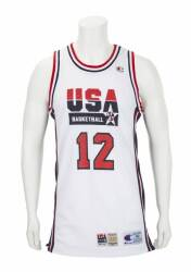 newest efb4e 8d8ff JOHN STOCKTON 1992 OLYMPICS GAME WORN USA BASKETBALL JERSEY ...
