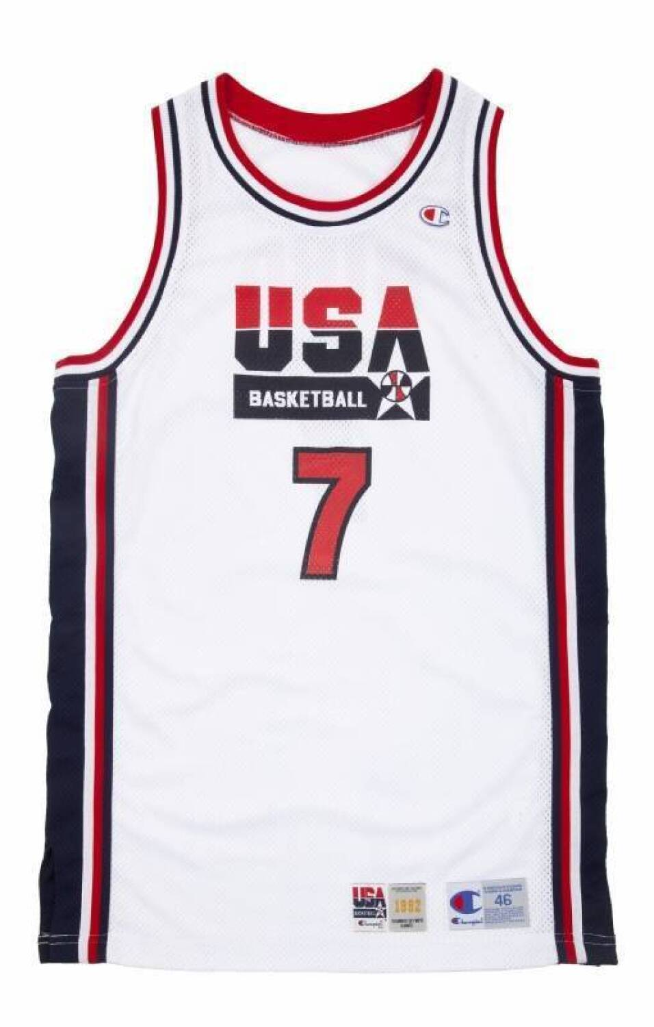 4dc4968518a1 Lot 40 of 480  LARRY BIRD 1992 OLYMPICS GAME WORN USA BASKETBALL JERSEY