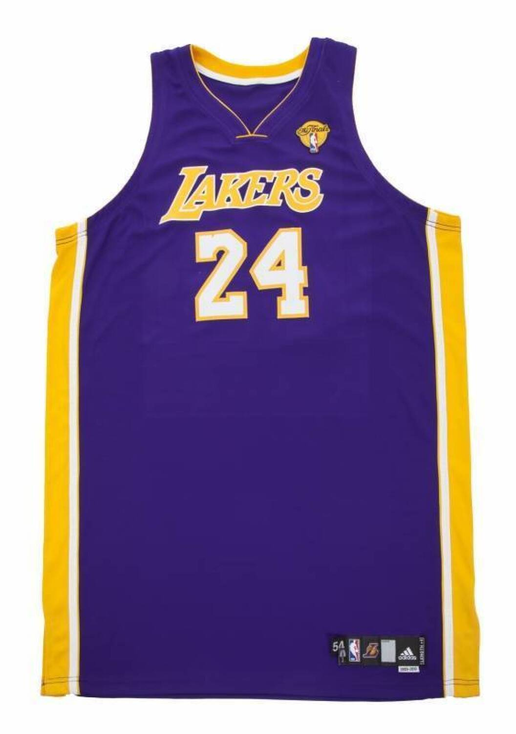 3a7acb94c KOBE BRYANT 2010 NBA FINALS GAME WORN LOS ANGELES LAKERS JERSEY - Current  price   2250