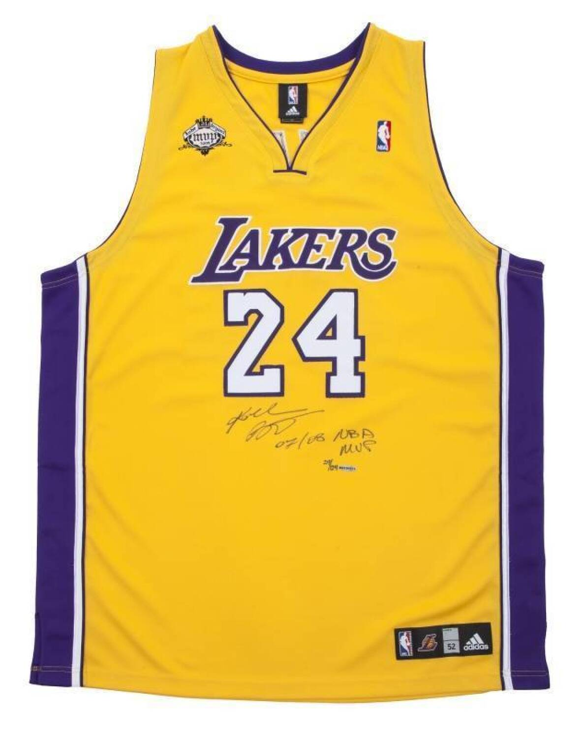 KOBE BRYANT SIGNED AND INSCRIBED LIMITED EDITION 2007-08 NBA MVP ...