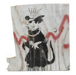 "BANKSY (BRITISH, B. 1974) ""RAPPER RAT,"" CIRCA 2003"