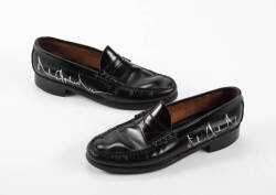 MICHAEL JACKSON SIGNED AND WORN LOAFERS