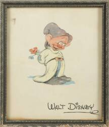 SNOW WHITE'S BASHFUL PRINT OF A SKETCH