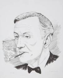 IAN FLEMING PORTRAIT PRINT BY GEORGE ALMOND