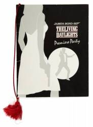 THE LIVING DAYLIGHTS POSTERS AND PARTY MENU