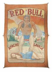 """RED BULL APACHE"" CIRCUS BANNER"