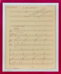 JERRY HERMAN SIGNED CONDUCTOR'S SHEET MUSIC