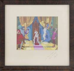 BURT REYNOLDS SIGNED AND INSCRIBED DISNEY ANIMATION