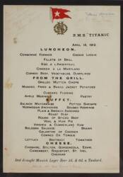 TITANIC SURVIVORS SIGNED MENU