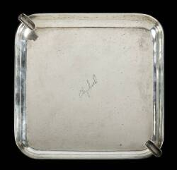 ELIZABETH TAYLOR ENGRAVED STERLING ASHTRAY