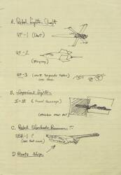 STAR WARS ORIGINAL PRE-PRODUCTION ART SET(REBEL & IMPERIAL SHIPS OUTLINE, FIRST TIE FIGHTER & DEATH STAR DESIGNS)