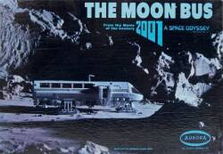 "2001: A SPACE ODYSSEY NEW IN BOX AURORA ""THE MOON BUS"" MODEL KIT"