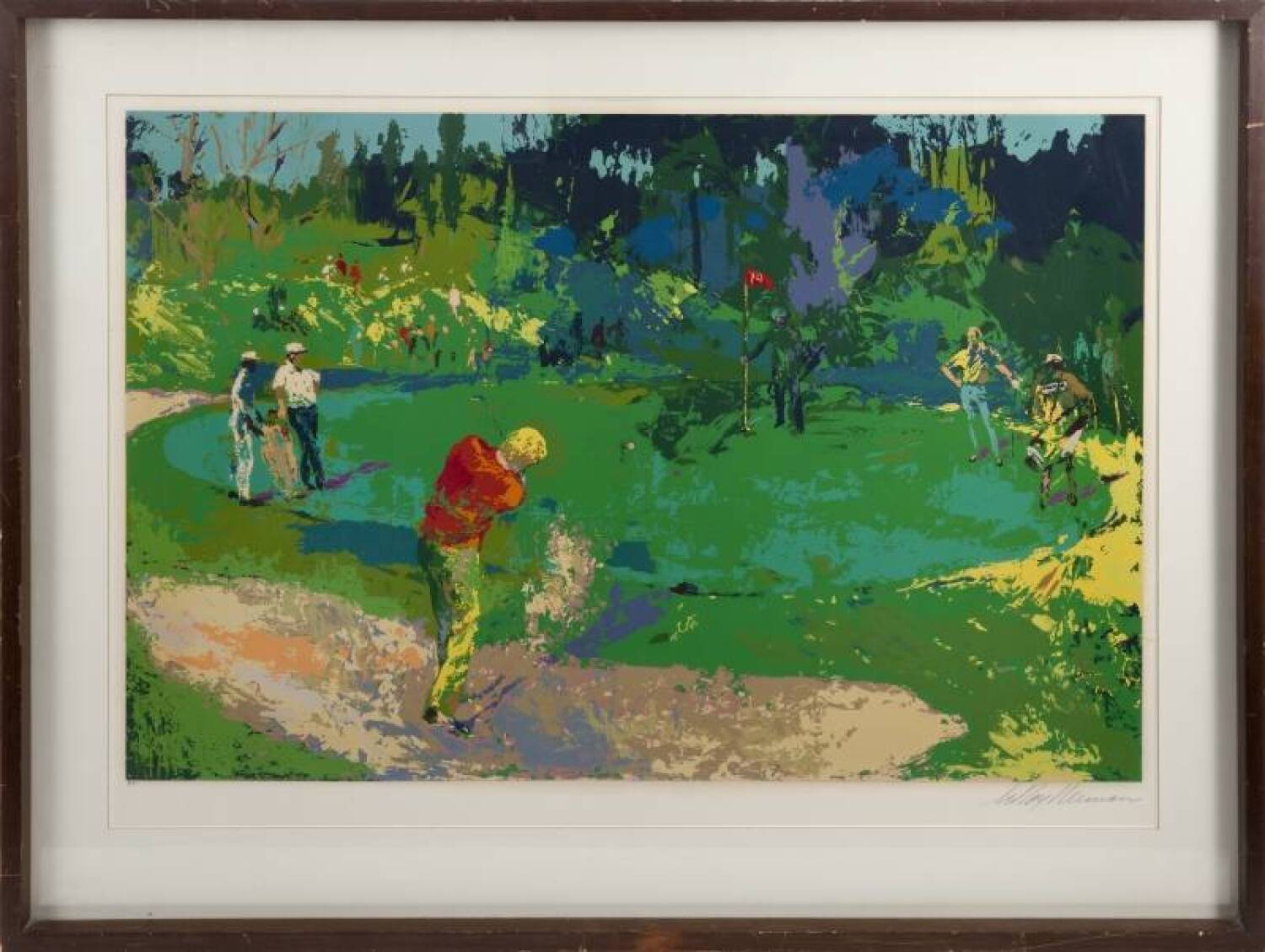 leroy neiman 1978 golf 39 s threesome serigraph current price 1000. Black Bedroom Furniture Sets. Home Design Ideas