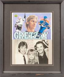 WAYNE GRETZKY SIGNED AND INSCRIBED PHOTOGRAPH TO BURT REYNOLDS