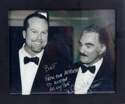 MARK McGWIRE SIGNED AND INSCRIBED PHOTOGRAPH TO BURT REYNOLDS