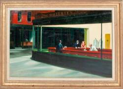 """NIGHTHAWKS"" AFTER EDWARD HOPPER"
