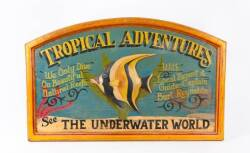 BURT REYNOLDS TROPICAL ADVENTURES PAINTED SIGN