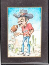 BURT REYNOLDS CARICATURE DRAWING