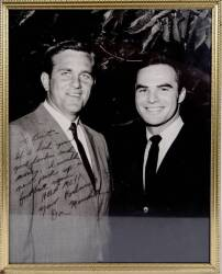 BURT REYNOLDS DON MEREDITH SIGNED AND INSCRIBED PHOTOGRAPH
