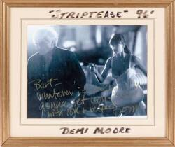 DEMI MOORE INSCRIBED PHOTOGRAPH